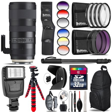 Tamron 70-200mm G2  for Nikon + Flash + Color Filter Set - 32GB Accessory