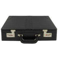 - HH-003PM/BK Faux Leather Briefcase - Black