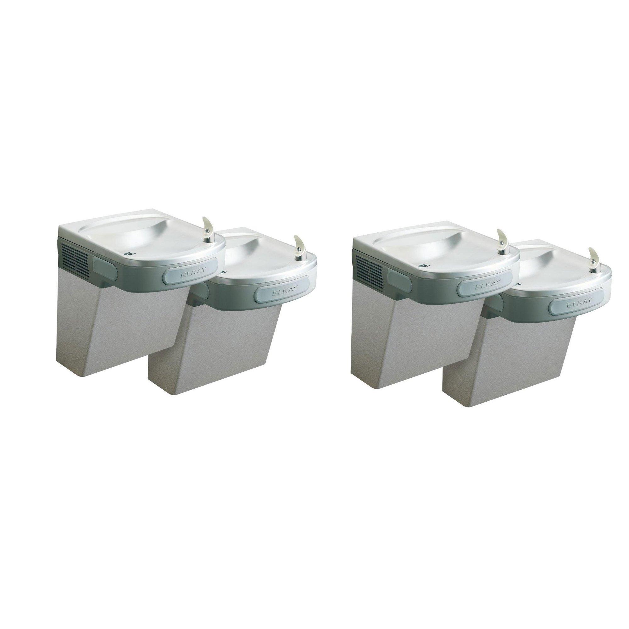 Elkay Wall Mount Bi Level Versatile 8 GPH Indoor Water Cooler Fountain (2 Pack)