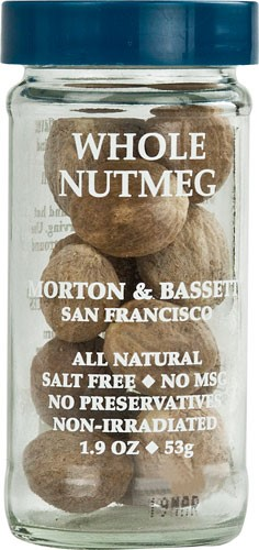Morton & Bassett All Natural Nutmeg Whole, 1.9 Oz by Morton & Bassett