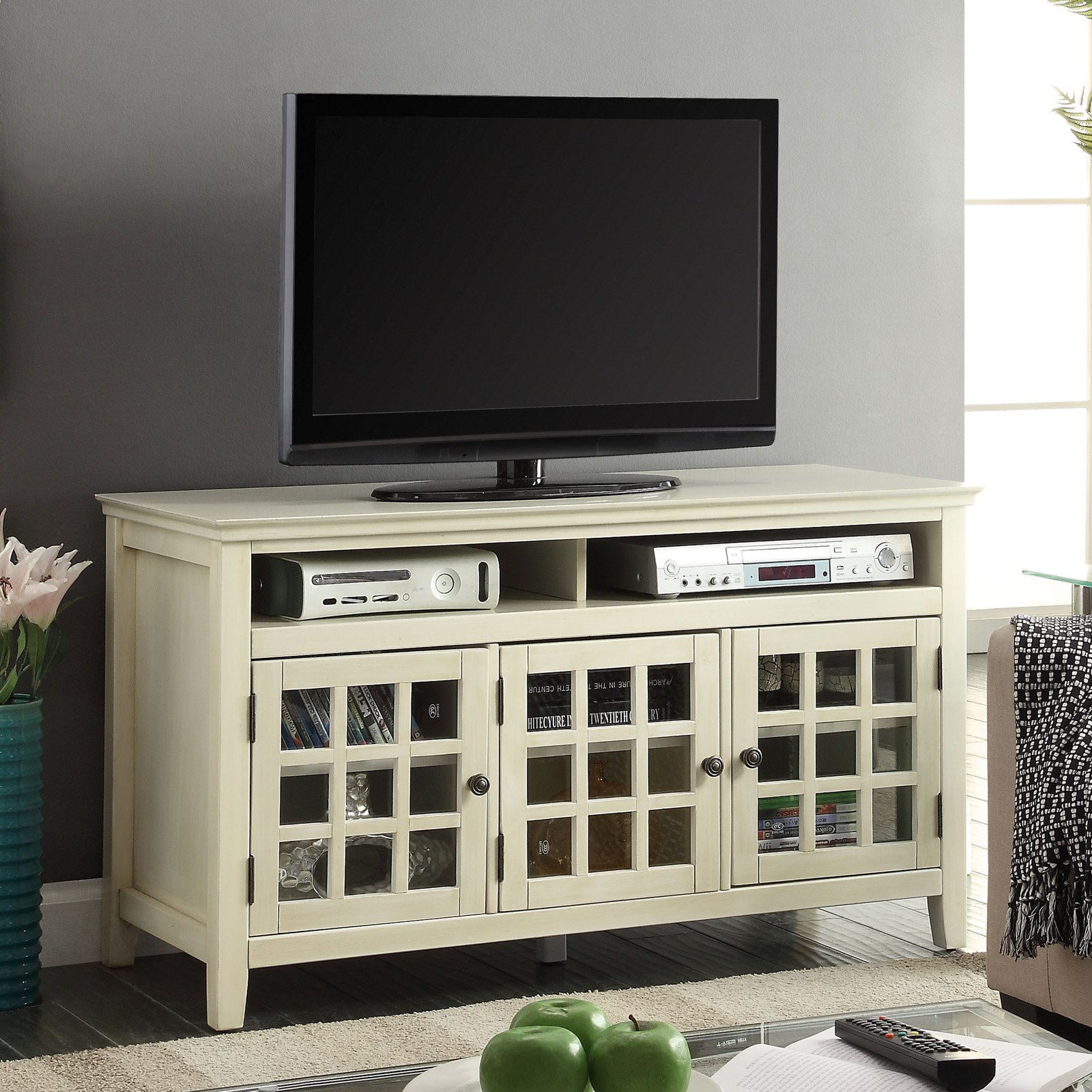 Largo White Media Cabinet by Linon Home Dᅢᄅcor Products Inc.