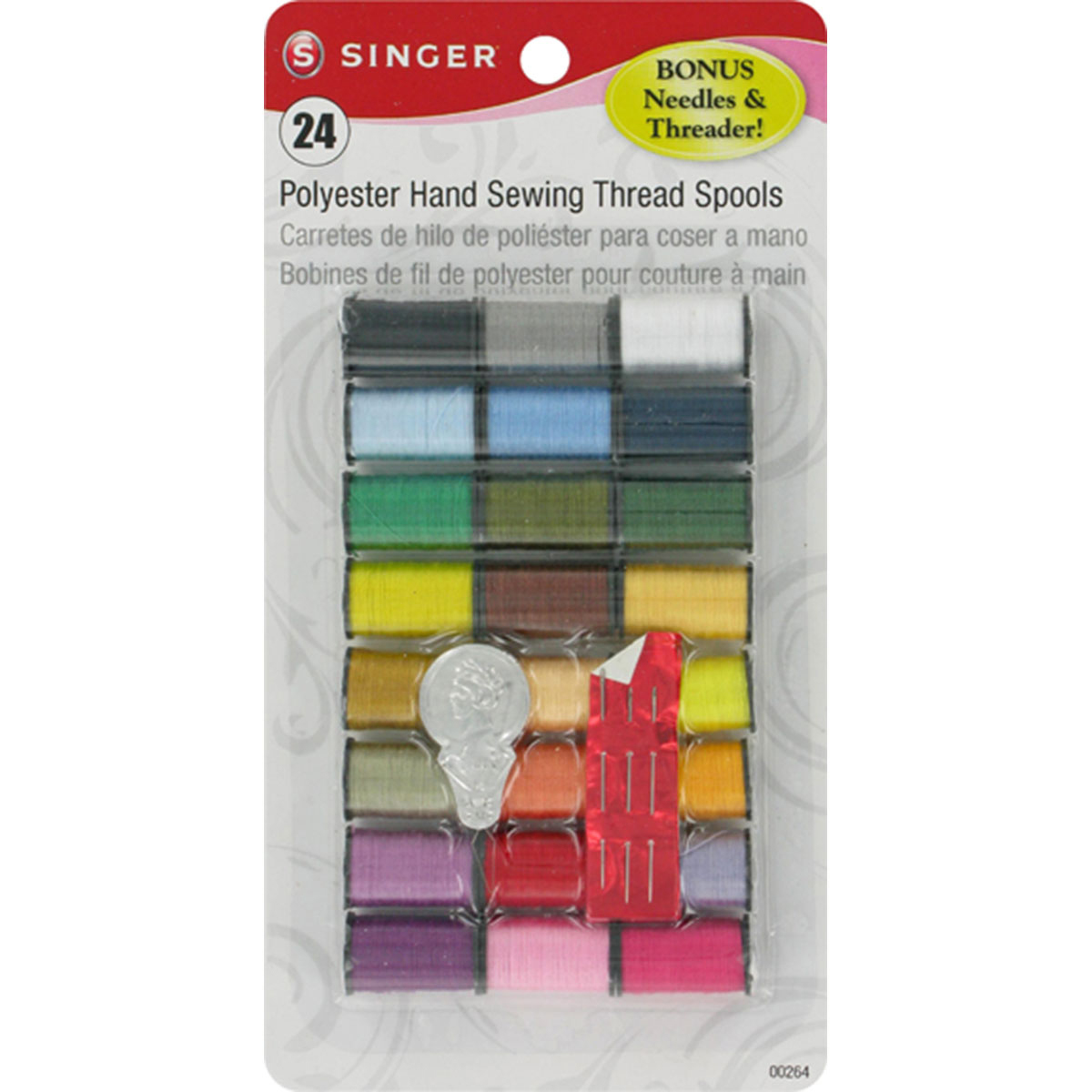 Singer Polyester Thread 10yd 24/Pkg-Assorted Colors