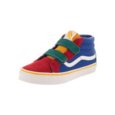 Vans Kids Sk8-Mid Reissue V (Primary Block) Skate - Kids Vans Shoes