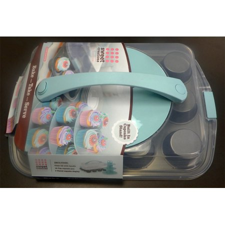 Good Cook Sweet Creations Muffin Pan - with Carrying Lid and Cupcake Stand - image 1 de 1
