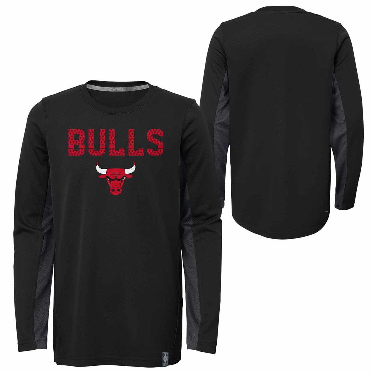 Chicago Bulls Kids NBA Assist Long Sleeve Shooter Top  - Black
