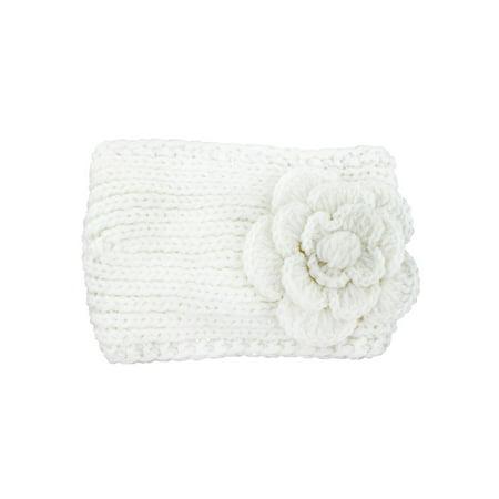 Women Woolen Yarn Crochet Camellia Flower Hair Hoop Headband - Flower Crochet Headband