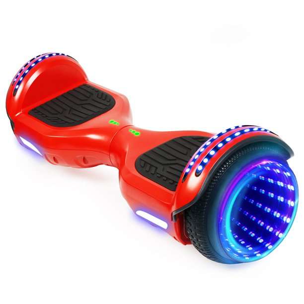 Hoverboard 6 5 Two Wheel Self Balancing Hoverboard With Led Lights Electric Scooter And Bluetooth Without Free Carry Bag For Adult Kids Gift Ul 2272 Certified Walmart Com Walmart Com