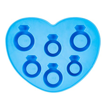 AkoaDa Novelty Diamond Ring Rubber Freezer Ice Tray Chocolate Silicone Mold Modern (Engagement Ring Ice Mold)