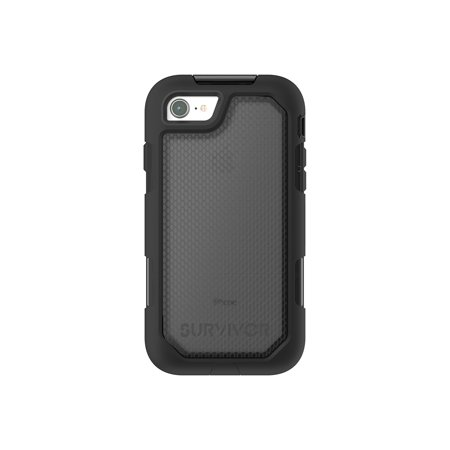 Griffin Survivor Extreme - Protective case for cell phone - rugged - silicone, polycarbonate, thermoplastic elastomer (TPE) - black tint - for Apple iPhone 7, 8 ()