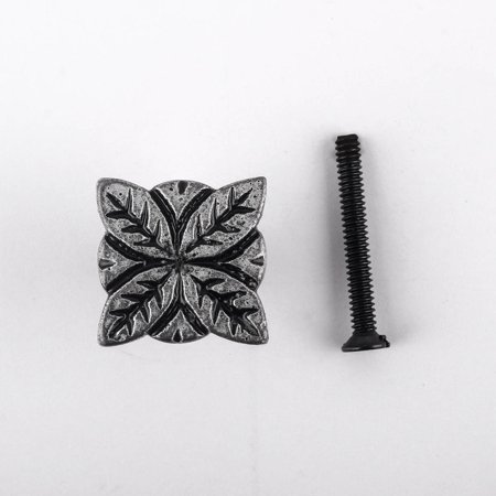 Flower Iron Cabinet Knob Pewter Finish Cabinet Hardware Antique Pewter M845 Top Knobs