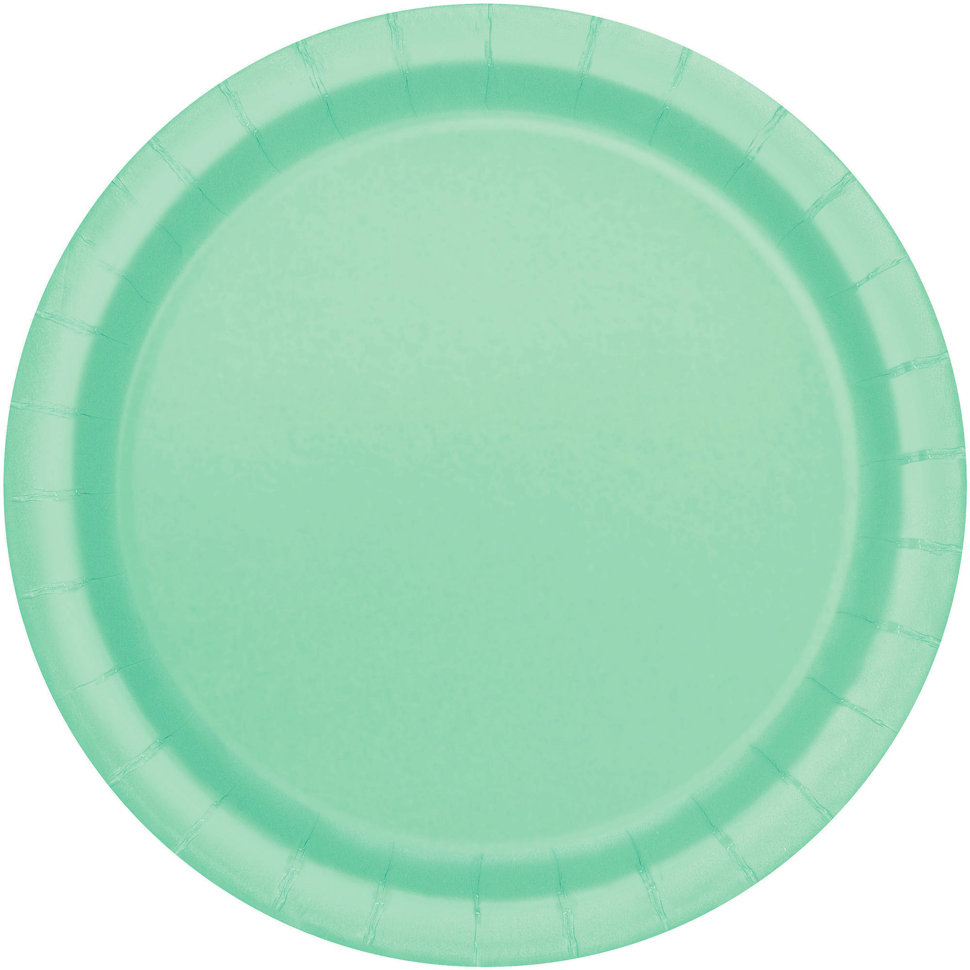 Paper Plates, 7 in, Mint Green, 20ct