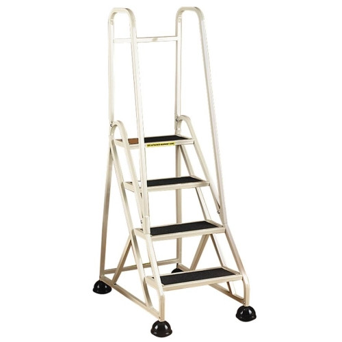 Cramer Industries 4-Step Aluminum Handrails Step Stool with 300 lb. Load Capacity by Cramer Industries%2C Inc.