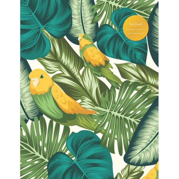 Notebook Canary With Tropical Leaves For School College Work Business Notes Personal Journaling Planning Hand Lettering Perfect Gift Present 120 Wide Ruled Pages Letter Size 8 5 X 11 Inches Walmart Com Walmart Com Are you searching for tropical leaves png images or vector? walmart