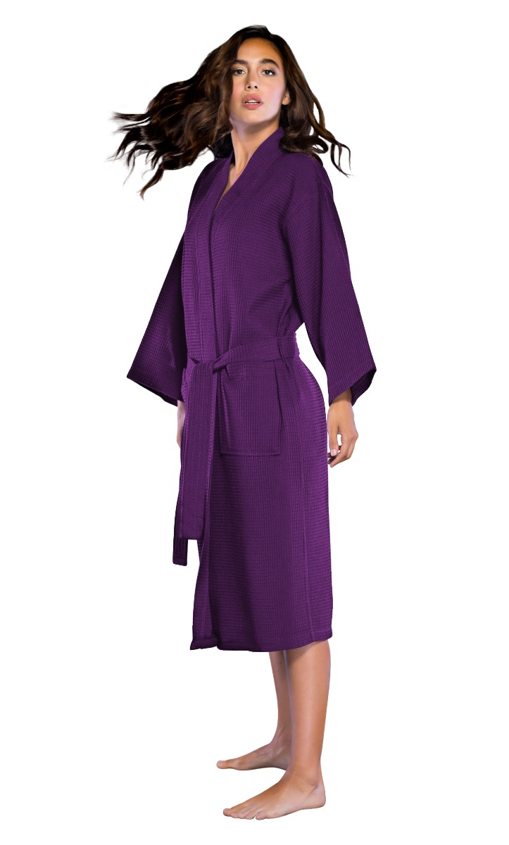 e274dccd6b Turquaz Linen - Turquaz Linen Lightweight Long Waffle Kimono Unisex Spa Robe  (XXL