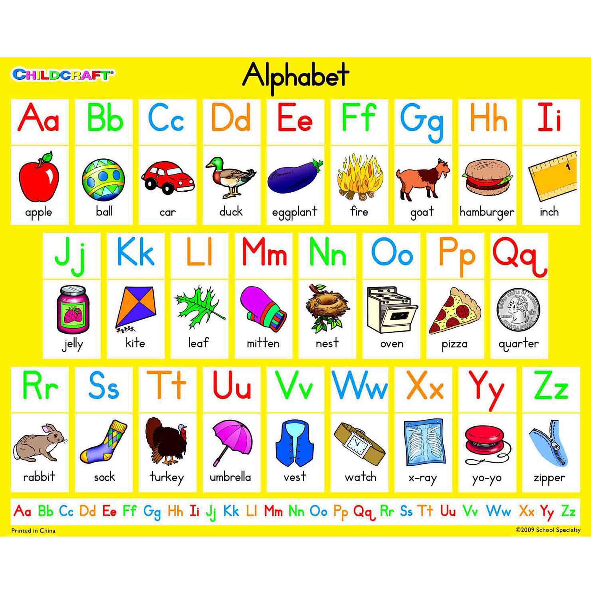 Childcraft Literacy Charts English Alphabet, 9