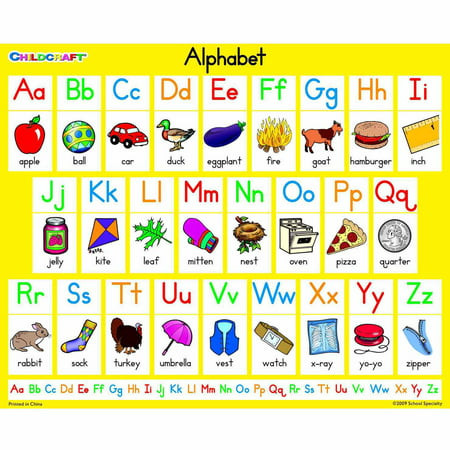 "Childcraft Literacy Charts English Alphabet, 9"" x 11"", Set of 25 ..."