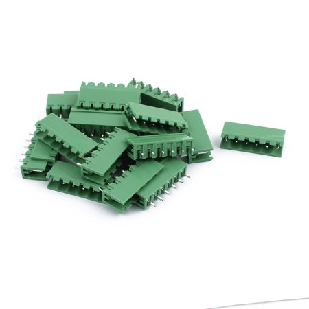 20Pcs AC300V 8A 5 08mm Pitch 6P Straight Needle Plug-In PCB Terminal