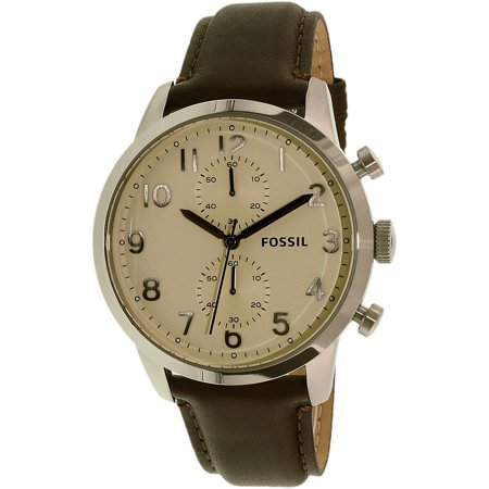 Fossil Men's Townsman FS4872 Brown Leather Quartz Fashion Watch
