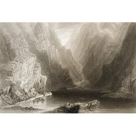 Posterazzi DPI1860392LARGE The Gap of Dunloe Killarney County Kerry Irelanddrawn by Whbartlett Engraved by Jtwillmore From the Scenery A Poster Print, 34 x 22 - image 1 of 1