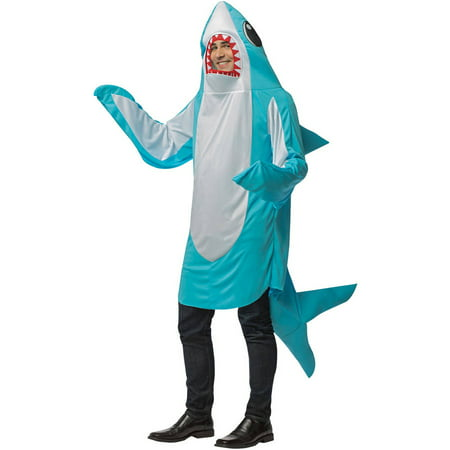 Shark Blue Men's Adult Halloween Costume - Adult Shark Costume