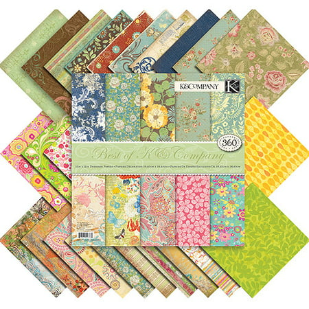 K & Company Best of K Scrapbooking Paper Pack (12 x 12 ...