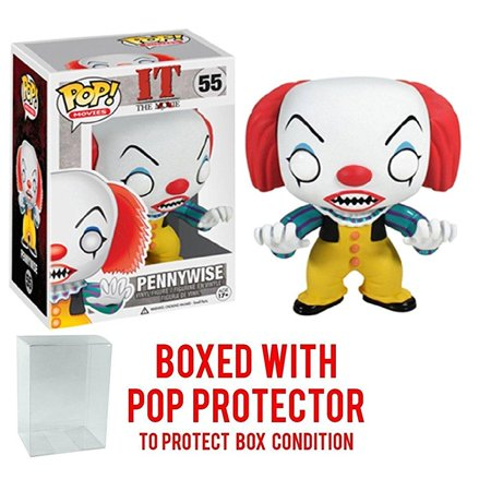 Funko Pop  Movies  Stephen Kings It   Pennywise Clown Vinyl Figure  Bundled With Pop Box Protector Case