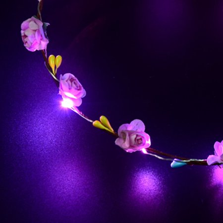 Glowing Wreath Led Light Wreath Headwear Hairband Decoration Accessories - image 5 of 6