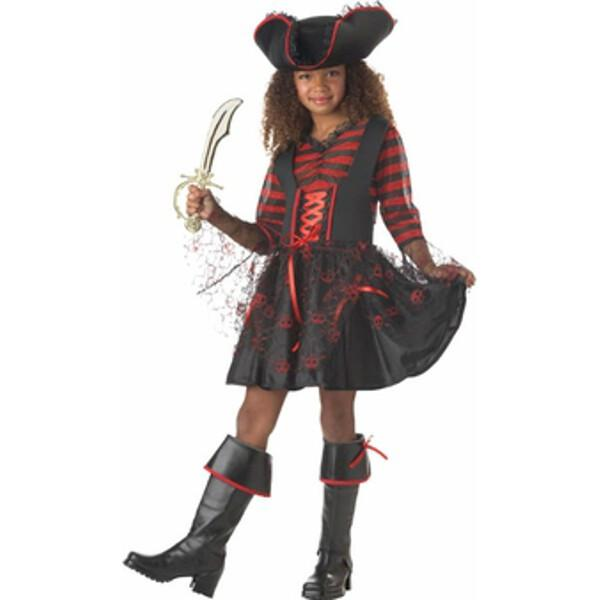 Child's Captain Girl Pirate Costume by