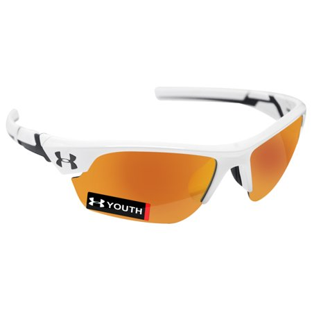 Under Armour 8600096-100941 youth windup shiny white charcoal rubber orange (Under Armour Youth Baseball Sunglasses)