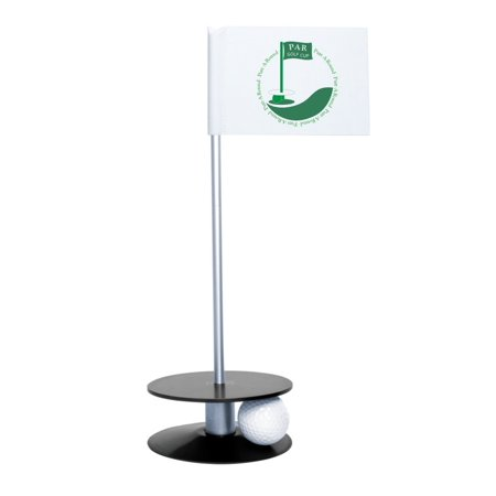 Putt-A-Round Golf Indoor & Outdoor Putting PAR Logo Flag With (Best Indoor Putting Green)