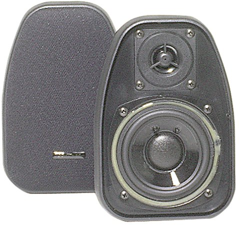 "Bic America Dv-32b 3 1/2"" 2-way 125 Watt Compact Shielded Speakers /pr (dv32b)"