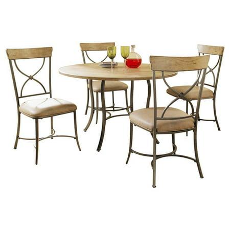 Hillsdale Charleston 5 Piece Round Dining Room Set w/ X-Back Chairs