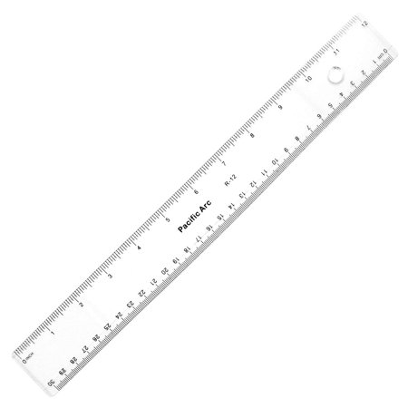 Pacific Arc Clear Acrylic Ruler 12in