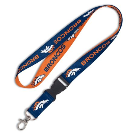 Denver Broncos Breakaway Lanyard - Navy Blue/Orange - No Size
