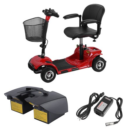 4 Wheels Travel Power Transportable Scooter Disabled Elderly Kids