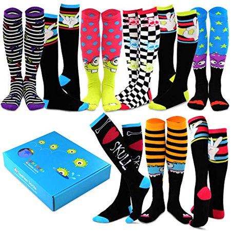 TeeHee Special (Holiday) Women Knee High 9-Pair Socks with Gift Box (Halloween) - Halloween Crossfit Socks