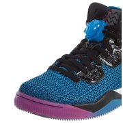 jordan nike mens air spike forty black/fire pink-photo blue synthetic size 10.5