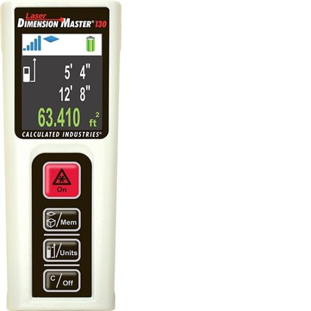 Calculated Industries Laser Dimension Master 130 Compact Digital Distance Measurer With 130 Foot Range And Bright