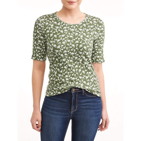 Gibson Ladies Tee (Women's Scoop Neck Elbow Sleeve Tee )