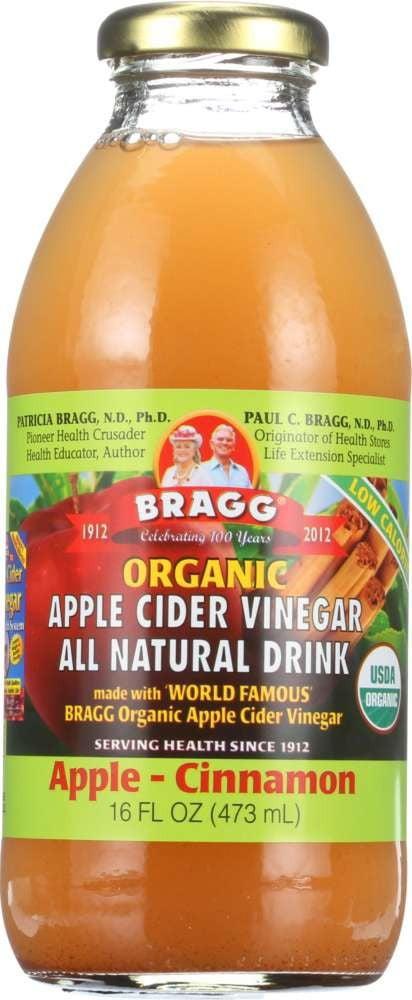 Bragg Organic Apple Cider Vinegar All Natural Drink Apple Cinnamon, 16.0 FL OZ by Bragg