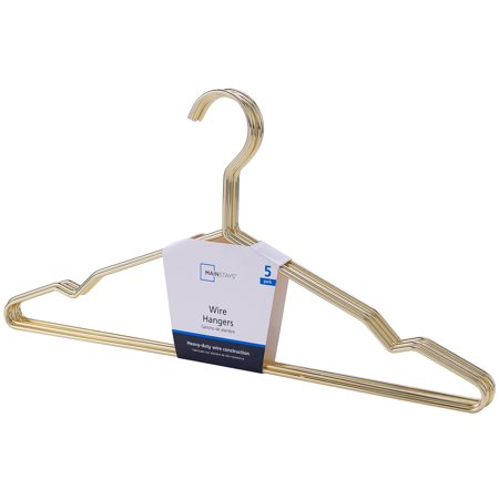 Mainstays Steel Wire Gold Hangers 60 count