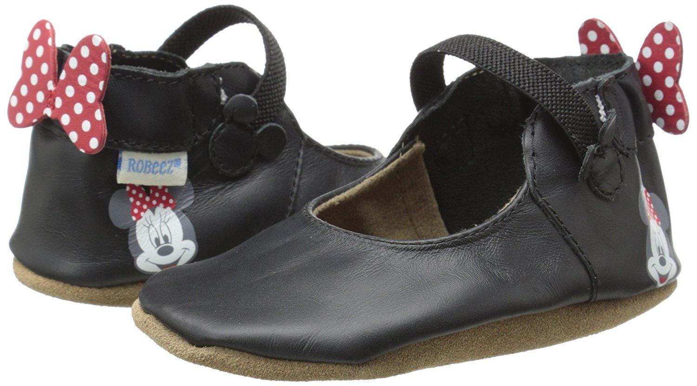 Robeez Disney Girls Black Minnie Mary Jane Infant Shoe by Robeez