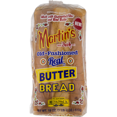 Martin's Old-Fashioned Real Butter Bread- 16 slice 18 oz. (4