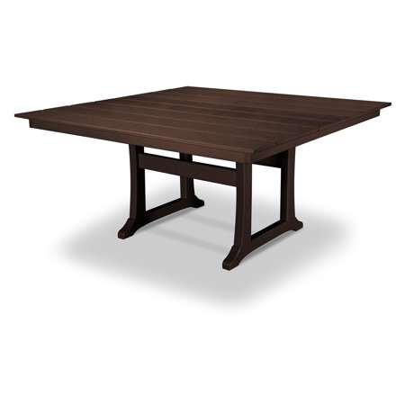 POLYWOOD® Modern Trio 59 x 59 in. Farmhouse Patio Dining Table ()