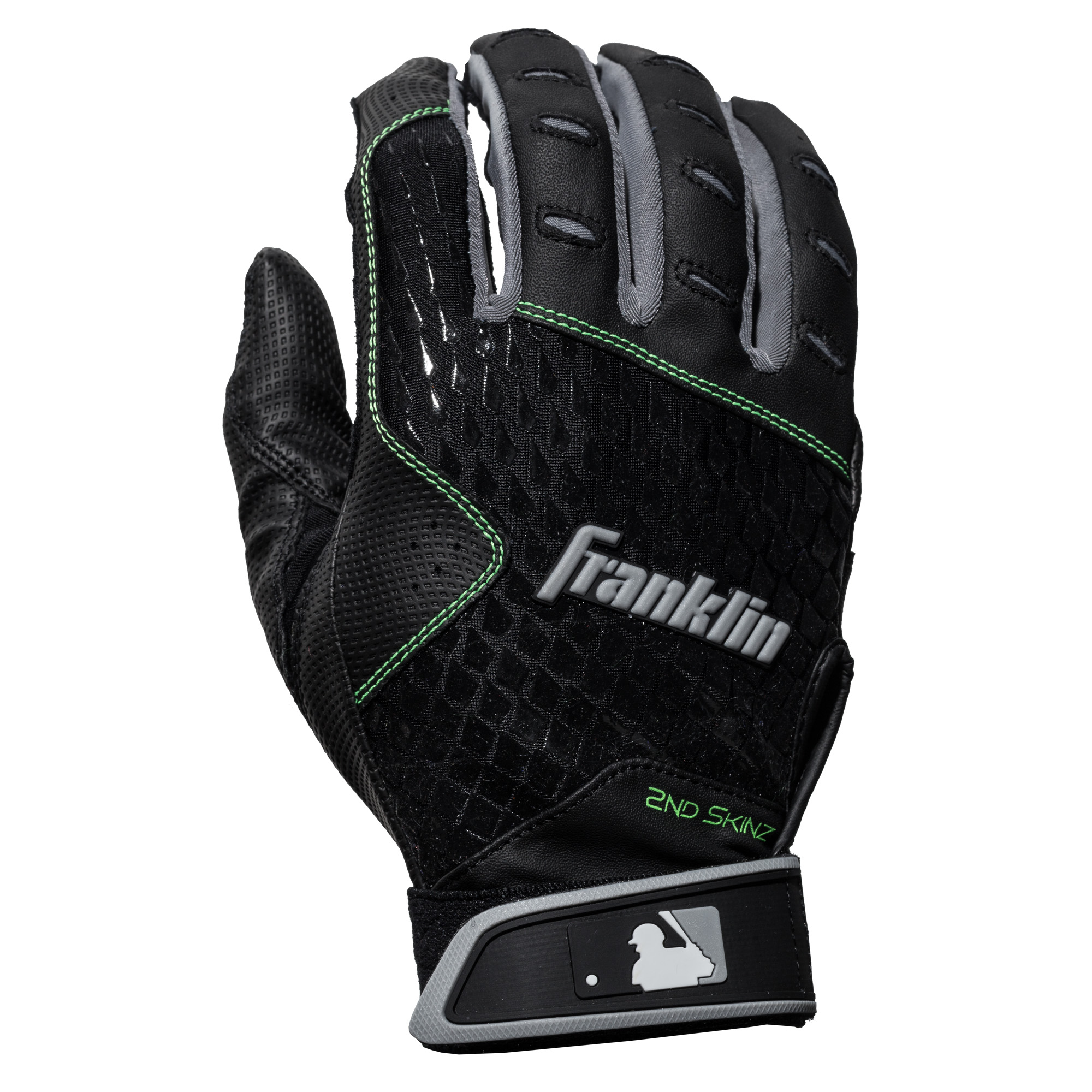 Franklin Sports 2nd-Skinz Batting Gloves Black Black Adult Small by Franklin Sports