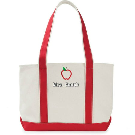 Special Teacher Personalized Red Tote Bag - Personalized Teacher Bags