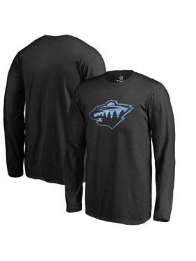 Minnesota Wild Youth Pond Hockey Long Sleeve T-Shirt - Black
