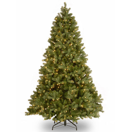 National Tree Pre-Lit 7-1/2' Feel-Real Downswept Douglas Fir Hinged Artificial Christmas Tree with 750 Clear Lights