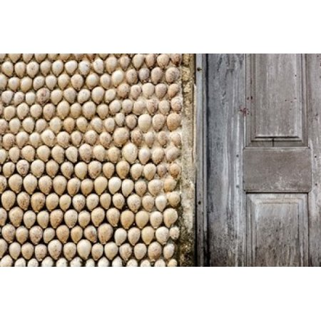 Cowrie Shells On Wall Of Building Ibo Island Morocco Poster Print By Alida Latham