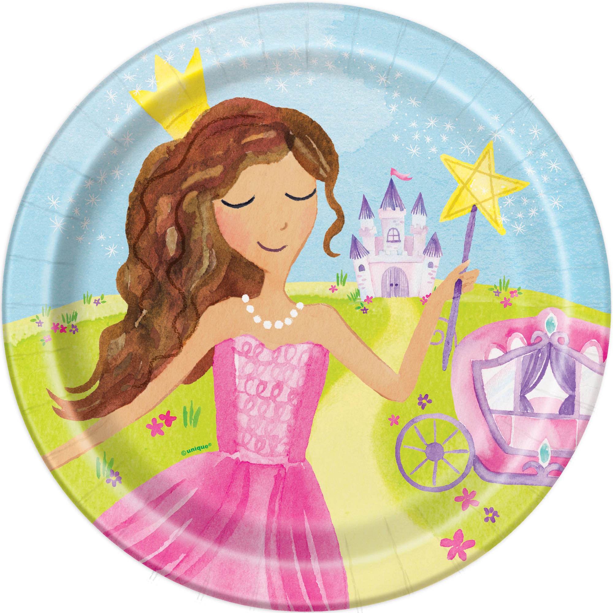 "9"" Magical Princess Party Plates, 8ct"
